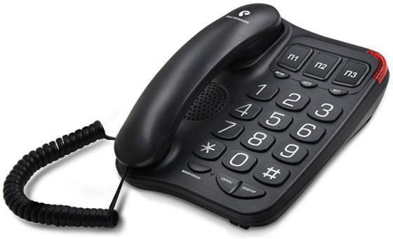 TEXET 214-TX цвет черный телефон проводной texet tx 201 белый