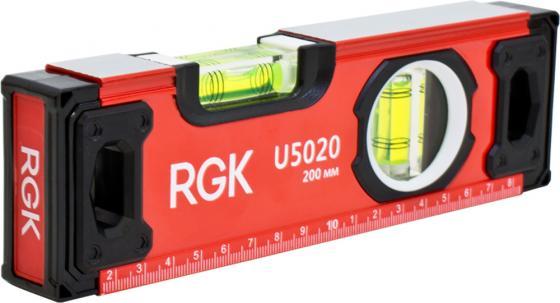 Уровень RGK U5020 200мм 0.5мм/м 2 глазка магнит уровень rgk ul 21a