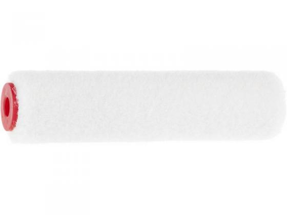Ролик сменный ЗУБР 02536-10 ВЕЛЮР 100% шерсть, ворс 4мм, ручка 6мм, d=15/100мм Эксперт валик matrix 80616 мини сменный велюр 100мм ворс 4мм d 15мм d ручки 6мм шерсть