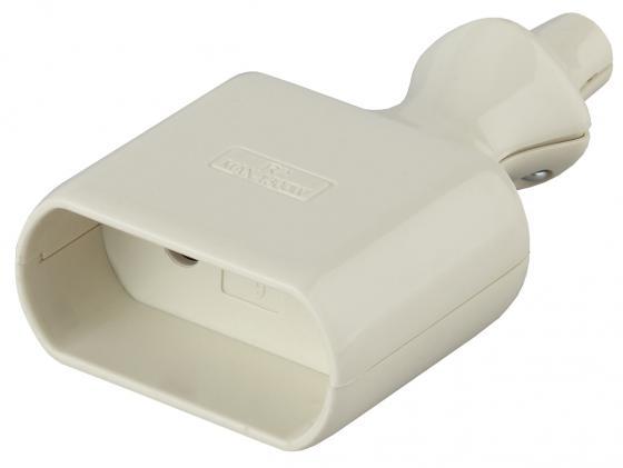 Розетка ЭРА R2 Б0019185 кабельная б/з 6A с кольцом прямой ввод белая (10/200/6000)