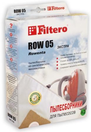 Мешок FILTERO ROW 05 ЭКСТРА для ROWENTA однораз. синт. 5слоев 2шт. filtero row 07 экстра мешок пылесборник для rowenta 4 шт