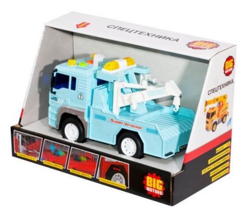 железные дороги и паровозики big motors игровой набор big motors железная дорога с 3 вагонами Эвакуатор BIG MOTORS Эвакуатор голубой WY530B