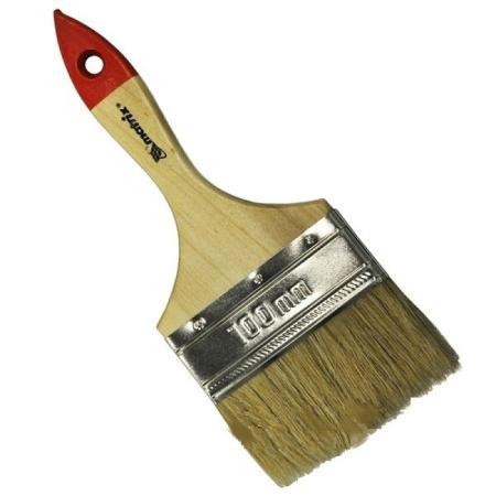 Кисть флейцевая MATRIX 82545 плоская стандарт 4 (100 мм) натур. щетина деревянная руч. цены онлайн