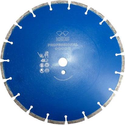 Круг алмазный KEOS DBP02.350 сегментный Professional 350х25.4/20.0мм для армированного бетона круг алмазный keos dbs02 450