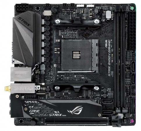 Материнская плата ASUS ROG STRIX B450-I GAMING Socket AM4 AMD B450 2xDDR4 1xPCI-E 16x 4 mini-ITX Retail 90MB0Z50-M0EAY0 rog strix b450 e gaming