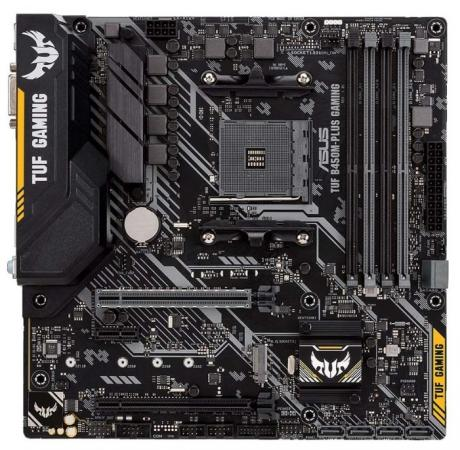 Материнская плата ASUS TUF B450M-PLUS GAMING Socket AM4 AMD B450 4xDDR4 2xPCI-E 16x 1xPCI-E 1x 4 mATX Retail 90MB0YQ0-M0EAY0 tuf b450m pro gaming