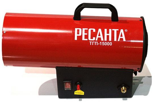 Тепловая пушка газовая Ресанта ТГП-15000 15000 Вт красный тепловая пушка газовая ресанта тгп 30000 33квт красный