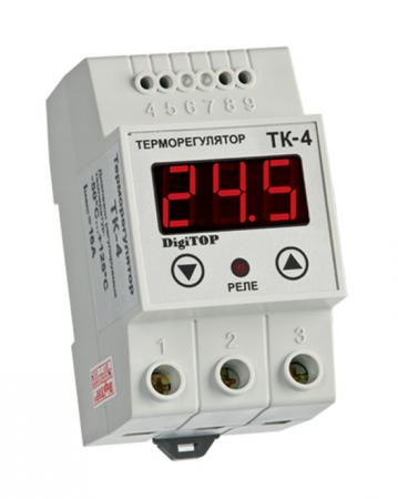 Терморегулятор DIGITOP ТК-4 креплением на DIN-рейку