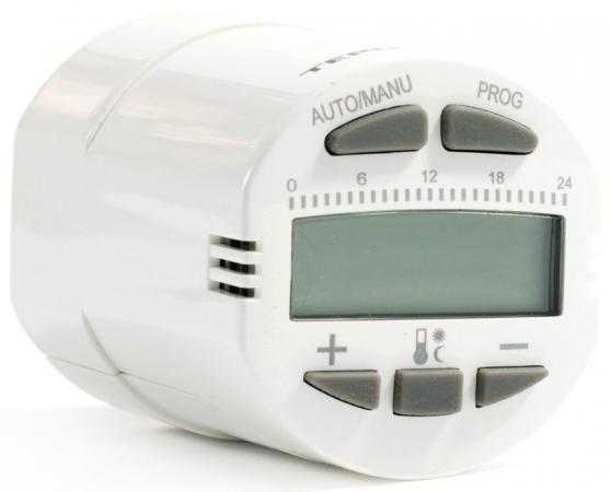 Термостат TEPLOCOM TS-Prog-R радиаторный программируемый . питание от двух батарей типа аа 2 шт