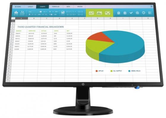 HP N246v 23,8 Monitor 1920x1080 16:9 ADS/IPS 250 cd/m2 1000:1 178°/178° HDMI VGA DVI Energy Star Epeat Black&Silver