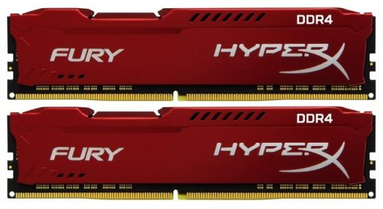 Модуль памяти DDR4 Kingston 16Gb KIT (8GbX2) 2933MHz HyperX FURY Red Series CL17 [HX429C17FR2K2/16] модуль памяти dimm 16gb 2х8gb ddr4 pc23466 2933mhz kingston hyperx fury black series hx429c17fb2k2 16