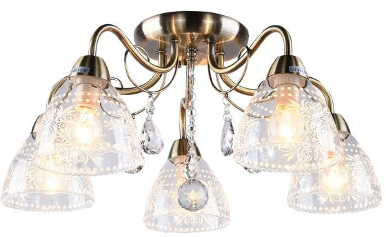 Люстра AMALIA E14X5X60W GOLD 1141/5C потолочная люстра j light roxy 1522 5c