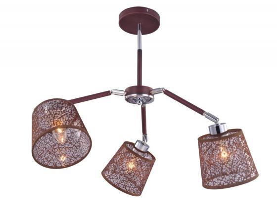 Купить Люстра BRUNI E27X3X40W BROWN/CHROME 1091/3C, J-LIGHT