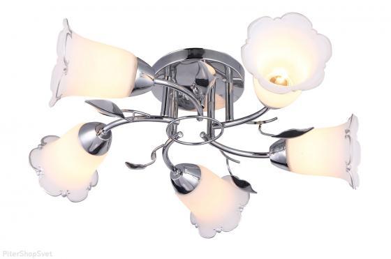 Люстра FIONA E14X5X40W CHROME 1115/5C люстра потолочная j light 1744 5c