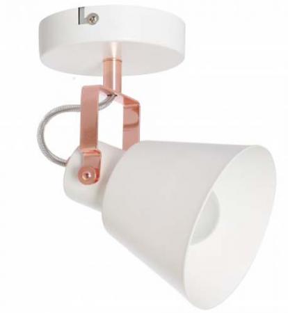 Спот TEO E27X1X60W WHITE/COPPER 1232/1A diy 3w 3000k 315lm warm white light round cob led module 9 11v