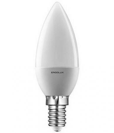 Лампа светодиодная ERGOLUX 12135 LED-C35-7W-E14-4K Свеча 7Вт E14 4500K 172-265В цена