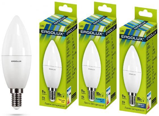 Лампа светодиодная свеча Ergolux LED-C35-9W-E14-3K E14 9W 3000K цена