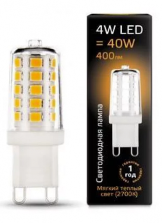 Лампа Gauss 107309104 LED G9 AC185-265V 4W 2700K керамика цена