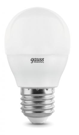 Лампа светодиодная шар Gauss 105102107-D E27 7W 3000K gauss лампа светодиодная диммируемая gauss шар матовый e27 7w 3000к 105102107 d
