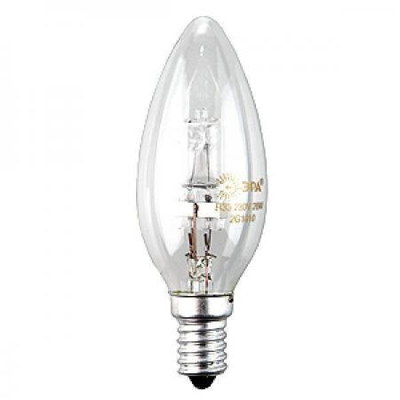Лампа галогенная ЭРА Hal-B35-42W-230V-E14-CL (10/100/6000) лампа галогенная 04117 e14 42w свеча витая матовая hcl 42 fr e14 candle twisted