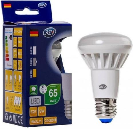 Лампа светодиодная REV RITTER 32337 2 R63 E27 8W 4000K лампа светодиодная эра r63 8w 840 e27