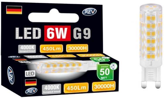 Лампа светодиодная REV RITTER 32384 6 jcd g9 6w 360лм 4000k холодный свет 220v лампа светодиодная rev deco premium filament g45 32485 0 холодный свет цоколь e27 7 вт