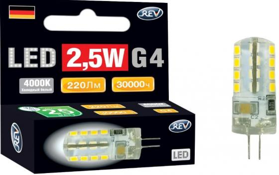 Лампа светодиодная REV RITTER 32438 6 jc g4 2.5w 4000k холодный свет 220v rev ritter 32326 6