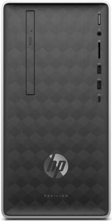 HP Pavilion 590-p0013ur AMD Ryzen 3 2200G(Ghz)/8192Mb/1000Gb/DVDrw/Ext:nVidia GeForce GTX1060(3072Mb)/war 1y/Ash Silver/DOS + USB KBD, USB MOUSE
