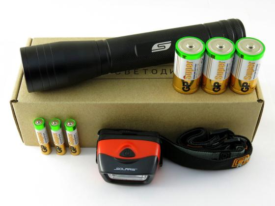 Фонарь набор Solaris Kit FZ-65/L20 чёрный цены