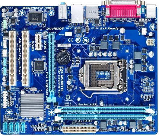 Материнская плата GigaByte GA-H61M-S2PH Socket 1155 H61 2xDDR3 1xPCI-E 16x 2xPCI 1xPCI-E 1x 4xSATA II mATX Retail мат плата для пк gigabyte ga h81m s2pvv3 0 socket 1150 h81 2xddr3 1xpci e 16x 2xpci 1xpci e 1x 2xsata ii 2xsataiii matx retail