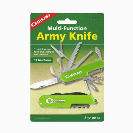 COGHLANS 9511g Многофункциональный туристический нож (11 функций), Зелёный coghlans 7870 магниевое огниво