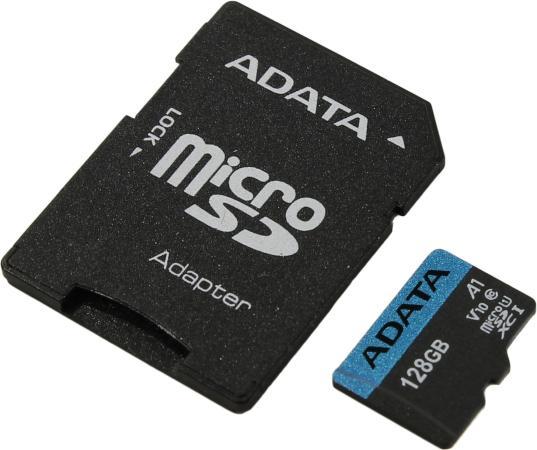 Карта памяти micro SDXC 128Gb Adata Premier UHS-I U1 V10 A1 + ADP (85/25 Mb/s)