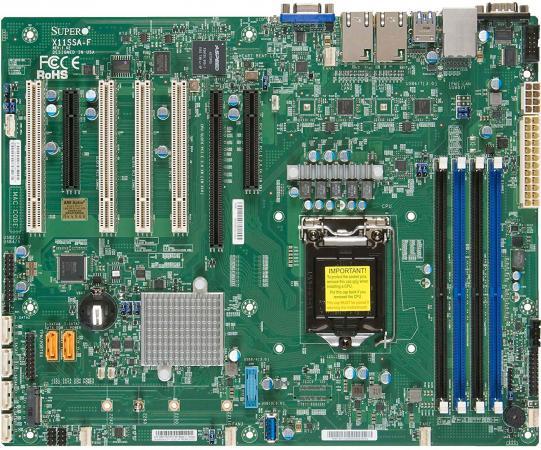 Материнская плата Supermicro MBD-X11SSA-F-O Socket 1151 C236 4xDDR4 1xPCI-E 16x 1xPCI-E 8x 6 ATX материнская плата supermicro mbd x10sle f p socket 1150 c224 4xddr3 1xpci e 8x 4xsataiii нестандартный