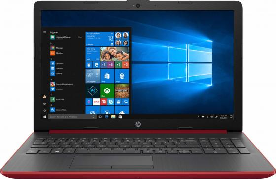 "Ноутбук HP 15-da0086ur 15.6"" 1920x1080 Intel Core i3-7020U 500 Gb 4Gb nVidia GeForce MX110 2048 Мб красный Windows 10 Home 4JS71EA цена и фото"