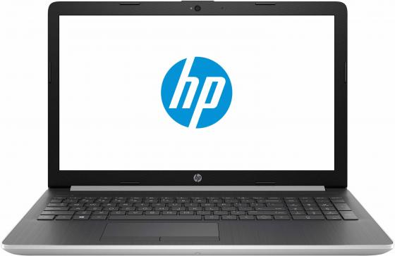Ноутбук HP 15-da0084ur 15.6 1920x1080 Intel Core i3-7020U 500 Gb 4Gb nVidia GeForce MX110 2048 Мб серебристый Windows 10 Home 4JY54EA ноутбук hp 15 db0389ur 15 6 1920x1080 amd a6 9225 500 gb 4gb amd radeon 530 2048 мб черный dos 6lc05ea