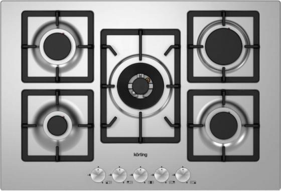 Варочная панель газовая Korting HG 797 CTX серебристый цена и фото