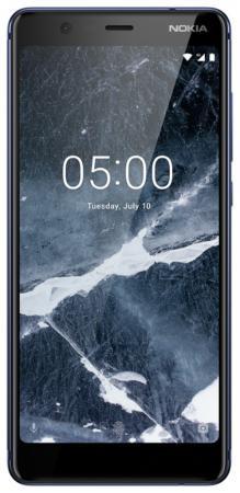 Смартфон NOKIA 5.1 синий 5.5 16 Гб NFC LTE Wi-Fi GPS 3G Bluetooth 11CO2L01A09 смартфон nokia 5 ds медный 5 2 16 гб lte wi fi gps