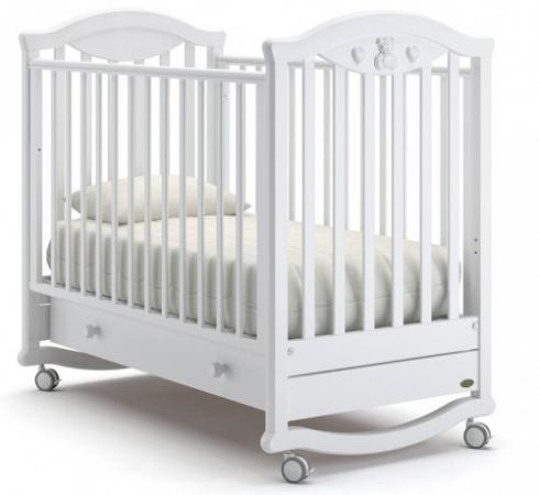 Кроватка-качалка Nuovita Lusso Dondolo (bianco) детская кровать nuovita grano dondolo bianco белый