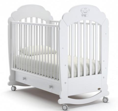 Кроватка-качалка Nuovita Parte Dondolo (bianco) детская кровать nuovita grano dondolo bianco белый