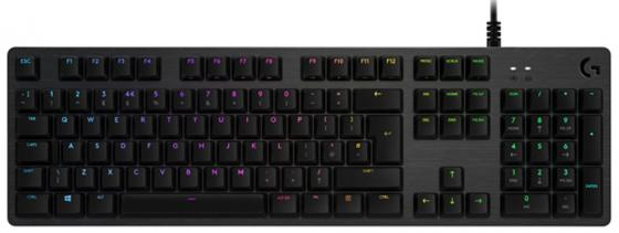 Logitech Gaming Keyboard G512 Carbon Mechanical Romer-G Tactile клавиатура беспроводная logitech wireless mechanical gaming keyboard g613 usb черный romer g 920 008395