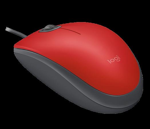 Мышь проводная Logitech M110 Silent USB Red Ret красный USB 2.0 мышь проводная logitech m105 красный usb 910 002945