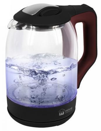 Чайник электрический HOME ELEMENT HE-KT190 1800 Вт бордовый 2 л пластик/стекло чайник home element he kt181 1800 вт темный топаз 2 л пластик стекло