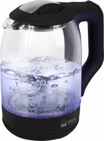 Чайник электрический HOME ELEMENT HE-KT190 1800 Вт синий топаз 2 л пластик/стекло чайник home element he kt181 1800 вт темный топаз 2 л пластик стекло