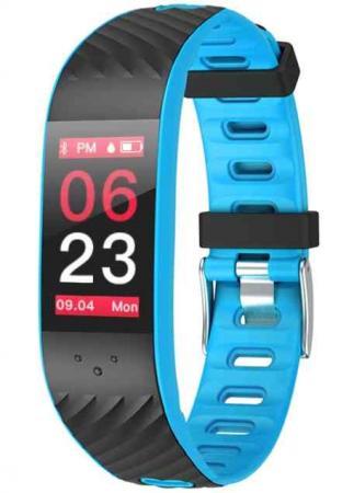 Фитнес браслет Qumann QSB 12 Blue+Black умный браслет qumann qsb 08 black