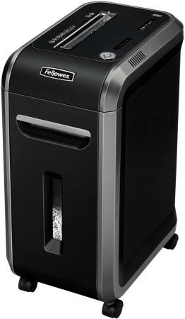 Шредер Fellowes® 99Ci. (17 листов) , 34 литра, 3,9х38 мм (класс 3), 100%Jam Proof, уничтожает: скобы/скрепки/карты/CD