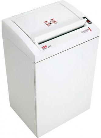 Шредер HSM 411.2 - полосы 5,8 мм/ 67 лист./146 литр./ кл. 2/ фотодатч /скобы - скрепки - карты - диски - дискеты- flash. цена