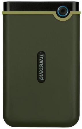 "Внешний жесткий диск 2.5"" Transcend (TS2TSJ25M3G) 2Tb, USB 3.1, милитари зеленый, retail (StoreJet 25M3G)"