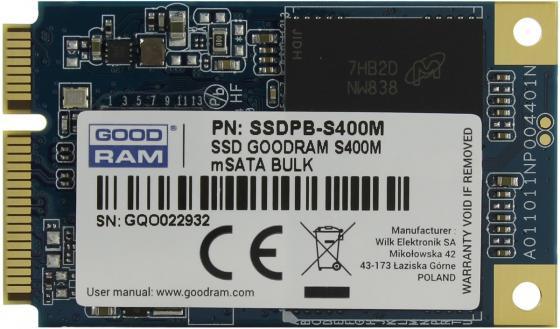 Накопитель SSD Goodram mSata S400M 240GB <SSDPR-S400M-240> жесткий диск 240gb goodram cl100 ssdpr cl100 240