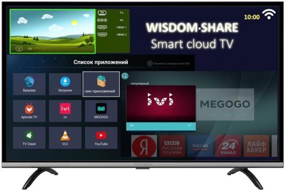 Телевизор LED 49 Thomson T49FSL5140 черный 1920x1080 50 Гц Wi-Fi USB телевизор thomson t19e20dh черный