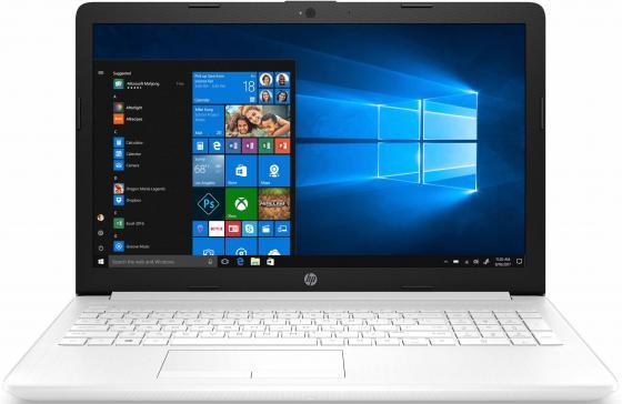 Ноутбук HP 15-da0189ur 15.6 1920x1080 Intel Core i3-7020U 1 Tb 4Gb Intel HD Graphics 620 белый DOS 4MW88EA
